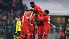 【战报】国家德比拜仁4-0大胜多特 莱万开局连续十一轮破门创纪录