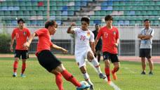 【集锦】亚青赛预赛-中国1-4负韩国  3个界外球打蒙国青