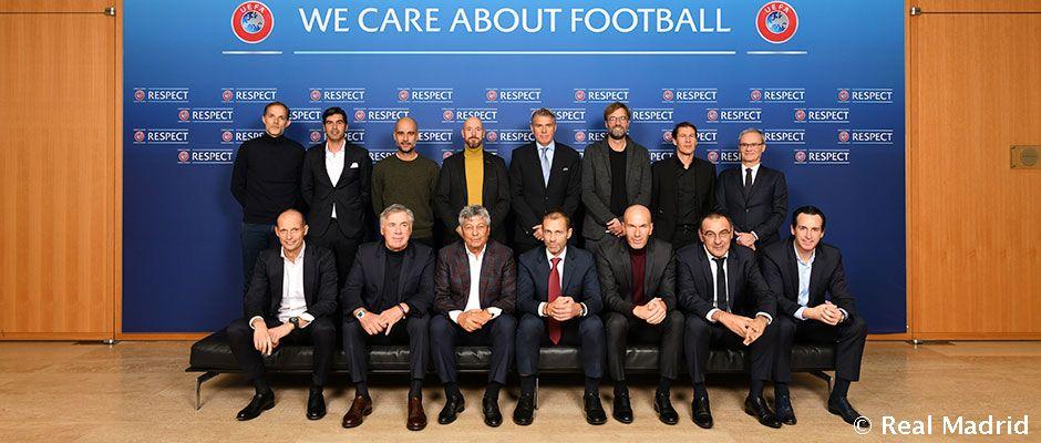 齐达内参加了欧足联精英教练论坛